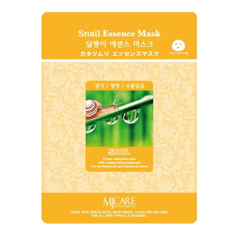 Тканевые Маска тканевая для лица MIJIN улитка Snail Essence Mask 23гр 8809220803895.jpg