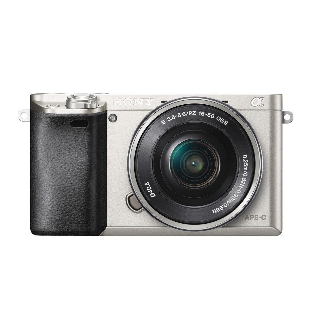 Беззеркальная фотокамера Sony ILCE-6000L серебристого цвета