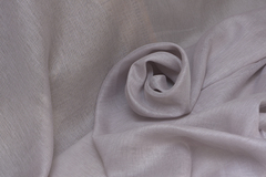 Натуральная льняная вуаль, цвет СМОРОДИНА С МОЛОКОМ
