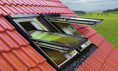 Мансардное окно со среднеповоротным открыванием FTS-V 04 U2 (66х118)