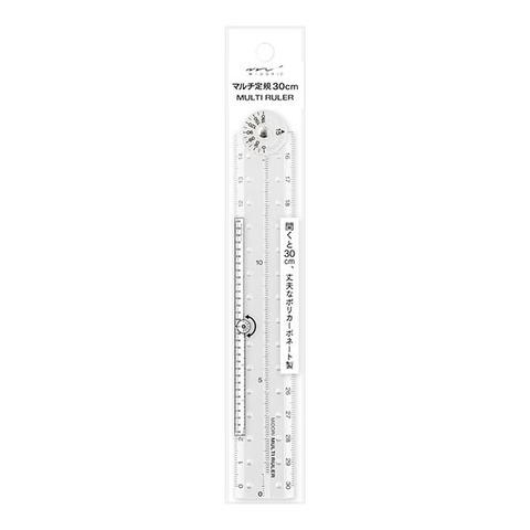 Линейка складная Midori Multi Ruler 30 см (прозрачная)