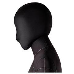 Голова для манекена Monica мягкая, женская, черная, обхват 53 см