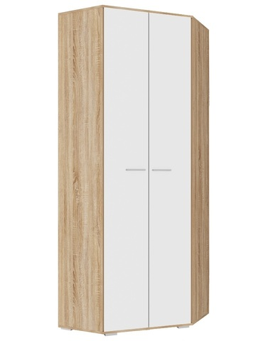 Шкаф угловой  ИТАЛИЯ ШУ-800 дуб сонома / белый глянец