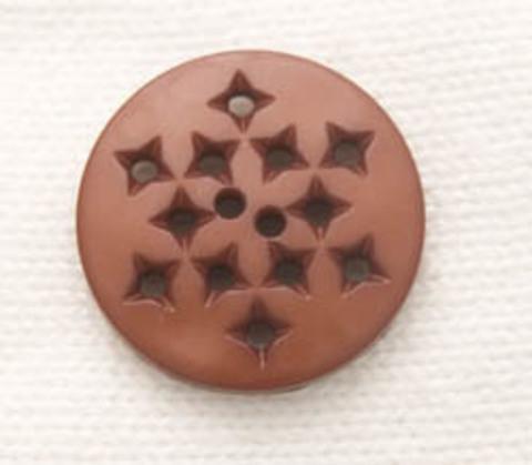 Пуговица круглая с дырочками,  шоколадная, маленькая