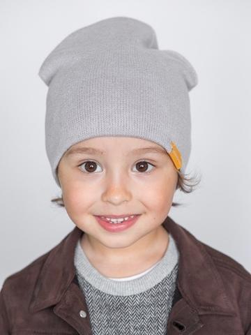 детская шапка из итальянской шерсти светло-серая
