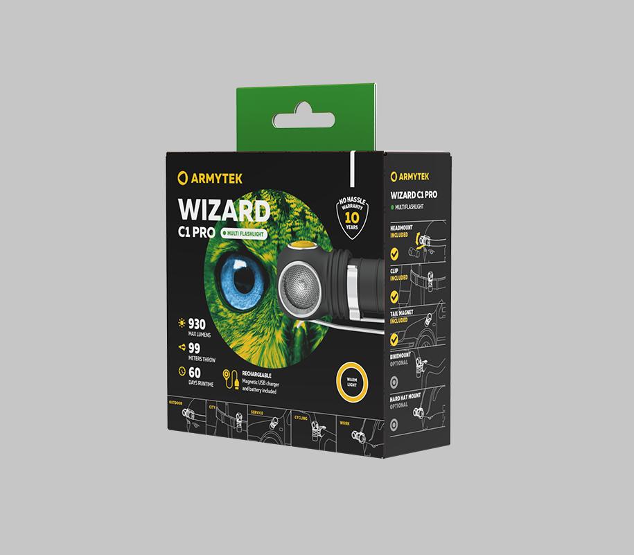 Мультифонарь Armytek Wizard C1 Pro Magnet Usb (теплый свет) - фото 6