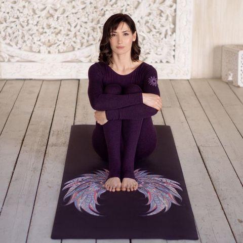 Коврик для йоги Крылья 183*66*0,3 см из микрофибры и каучука