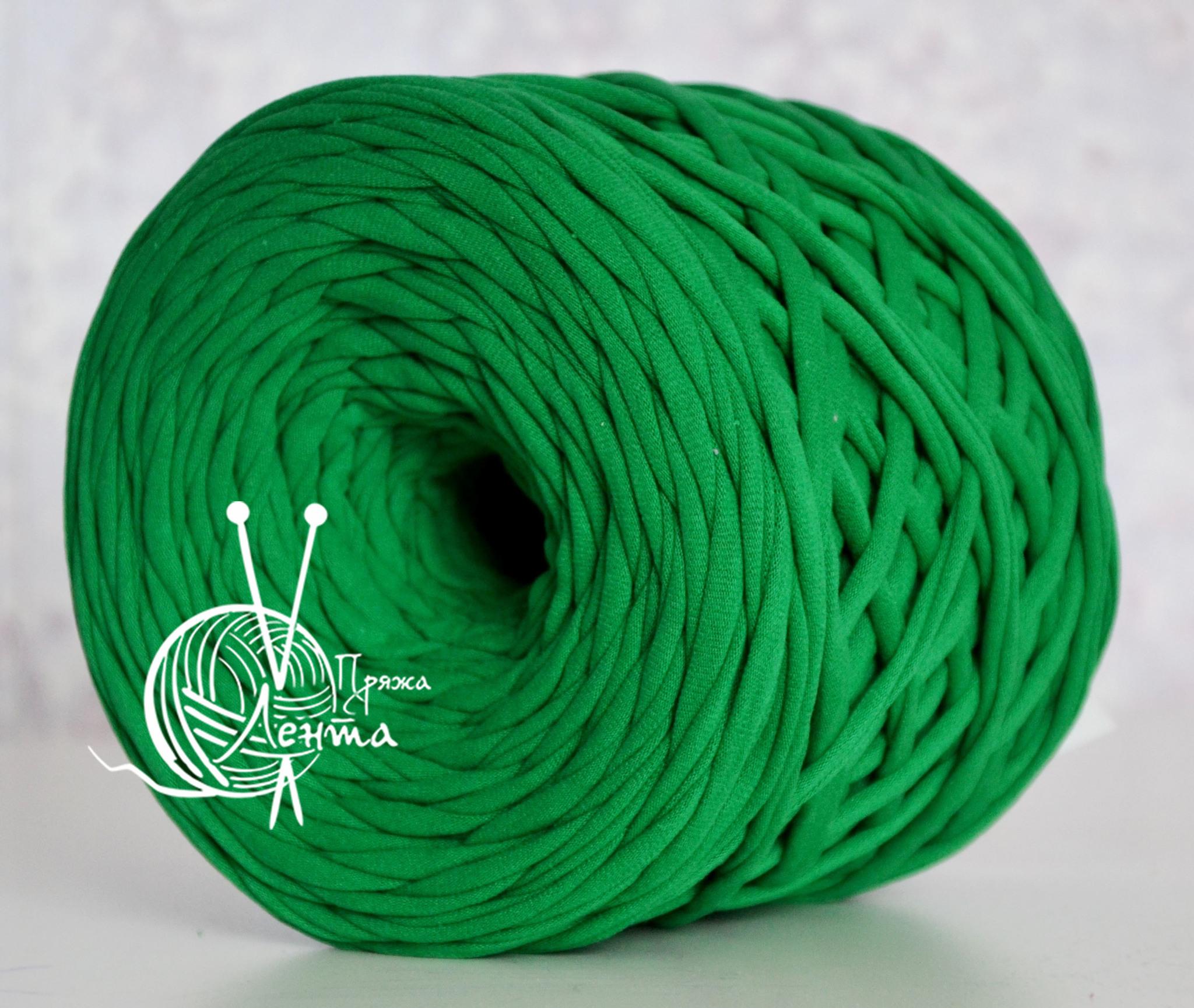 Товары на главной Пряжа Лента Зеленый Зеленый.jpg