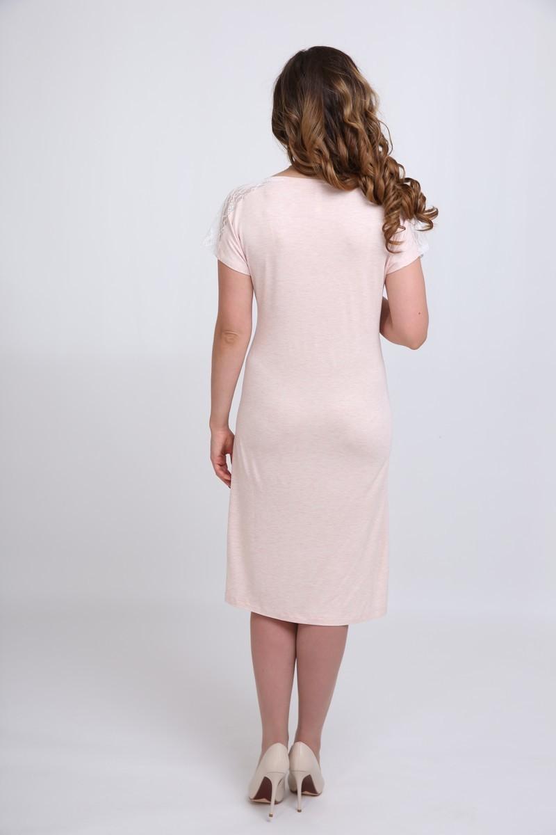 Ночная сорочка для беременных и кормящих 09718 пудра