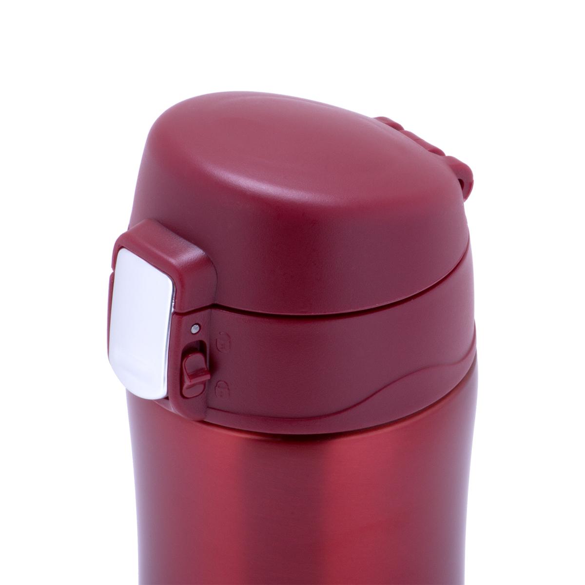 Термос-кружка Kamille 450 мл. из нержавеющей стали, красный