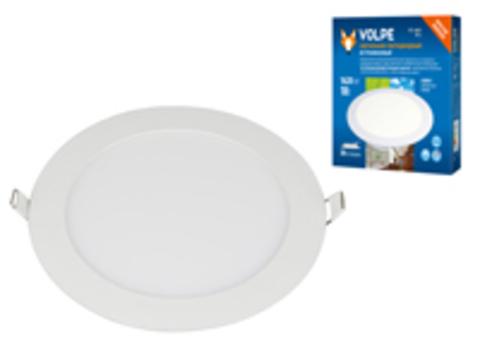 ULM-Q236 18W/6500K WHITE Светильник светодиодный встраиваемый. Дневной свет (6500К). Корпус белый. ТМ Volpe.