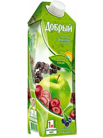 Сок добрый яблоко-черника МИНИМАРКЕТ 2л