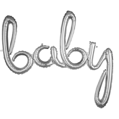 К Надпись Baby серебро, 35