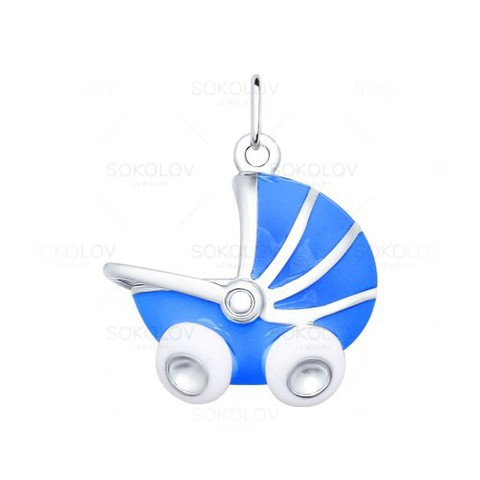 Подвеска в форме детской коляски