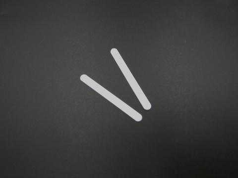 Косточки корсетные прямые 2 шт. (пластик) ширина 5 мм длина 5 см