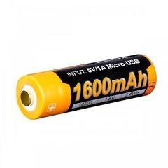 Аккумулятор 14500 Fenix ARB-L14 1600U mAh с разъемом для USB*