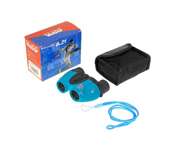 Бинокль Veber 8х21 (Бирюза) - комплект поставки, сумка-чехол, ремешок