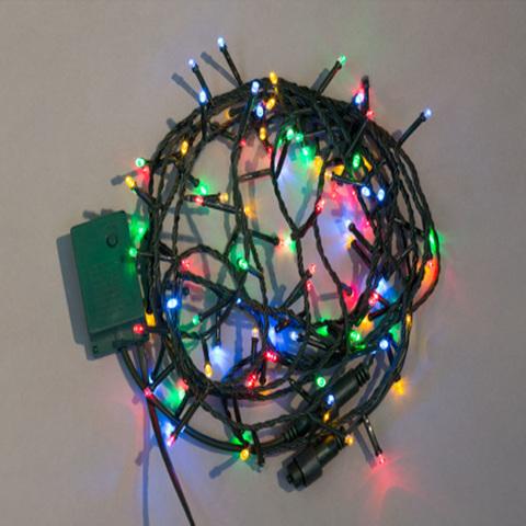 Электрогирлянда 100 разноцветных LED ламп, 8 режимов, длина провода 9,5 м