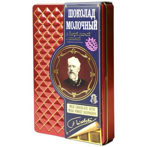 Шоколад молочный с дикой лесной малиной Серия П.Чайковский 90гр
