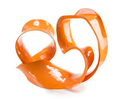 Ronaldo Sculpture in Orange