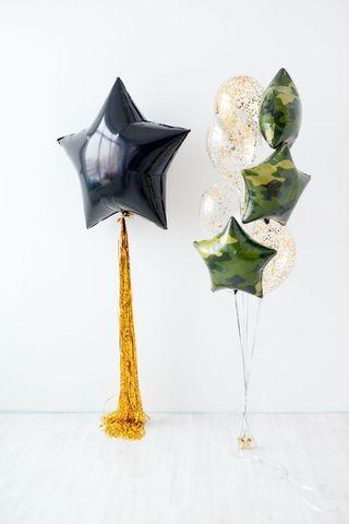 Композиция воздушных шаров Звездный камуфляж