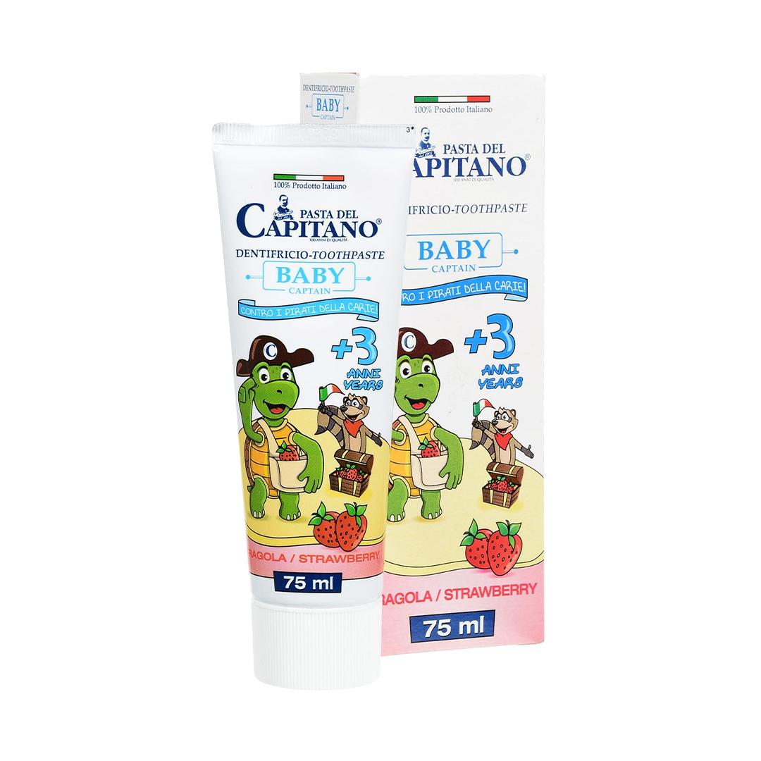 Pasta Del Capitano/Италия Зубная паста детская 3+ Клубника 75мл