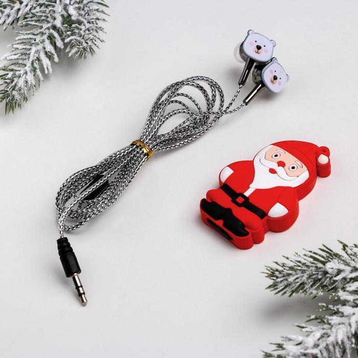 Набор: наушники 1,2 м и флешка 2 Гб «Чудес в новом году»