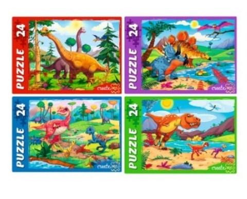 070-0281 Пазлы 24 элемента «Динозавры»