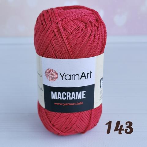 YARNART MACRAME 143, Вишня