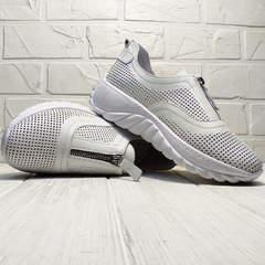 Белые кроссовки для города женские летние Wollen P029-259-02 All White.