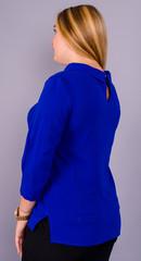 Кортни. Красивая женская блузка плюс сайз. Электрик.