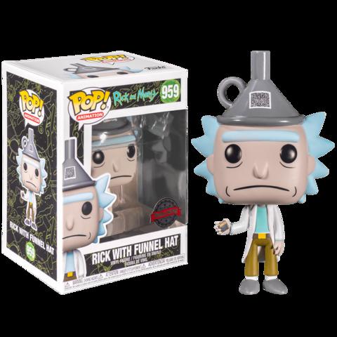 Funko POP! Animation Rick & Morty Rick w/Funnel Hat (Exc)