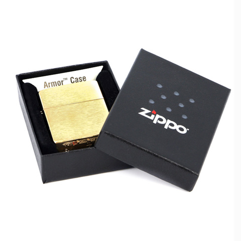 Зажигалка Zippo с покрытием Brushed Brass, латунь/сталь, золотистая, матовая, 36х12х56 мм