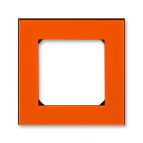 Рамка на 1 пост. Цвет Оранжевый / дымчатый чёрный. ABB. Levit(Левит). 2CHH015010A6066