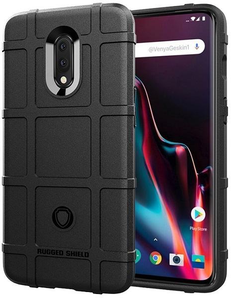 Чехол для OnePlus 7 цвет Black (черный), серия Armor от Caseport