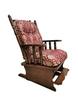 Кресло-качалка «Версаль 1» с подставкой для ног (массив березы)
