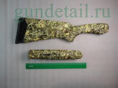 Приклад и цевьё ИЖ-27 камуфляж камыш зеленый СофТач