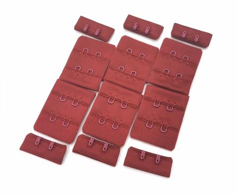 Застежка, ОПТ, 2х2, гранатово-красные, (Арт: Z2-579), 50 шт