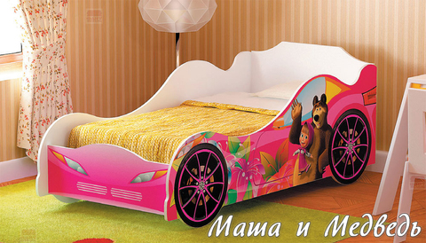 Кровать-машина для девочки Омега 12 ЛДСП