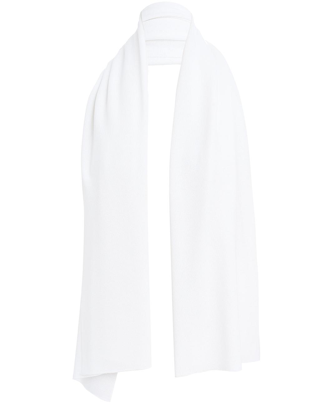 Женский палантин белого цвета из вискозы - фото 1
