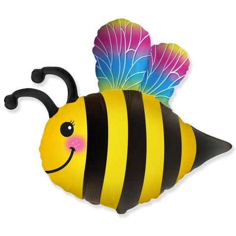 Шар фигура Пчелка радужная, 79 см