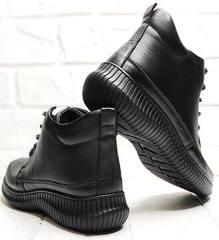 Женские ботинки кеды черные высокие Evromoda 535-2010 S.A. Black.