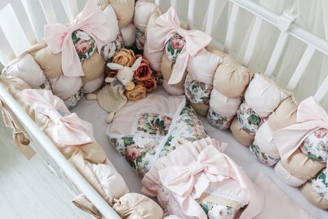 Комплект в кроватку Карамель, на 4 стороны кроватки