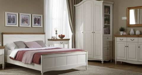 Спальня Айно 3 (белый скандик)