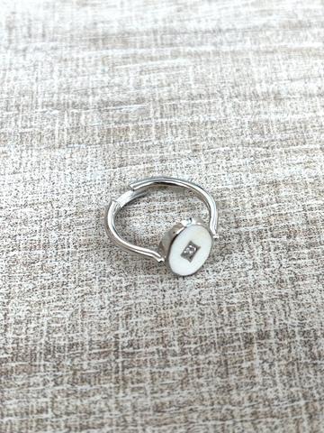 Кольцо Аврора белое, серебро