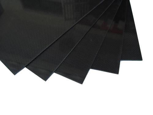 Карбон + стекловолокно лист 400x500x1.5