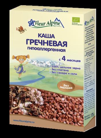 Каша Fleur Alpine Organic гречневая гипоаллергенная безмолочная