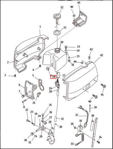 Шланг топливный для лодочного мотора T2,5 SEA-PRO (1-18)