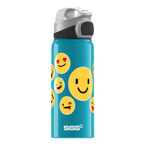 Бутылочка детская Sigg Miracle Alu Emoticon (0,6 литра), бирюзовая
