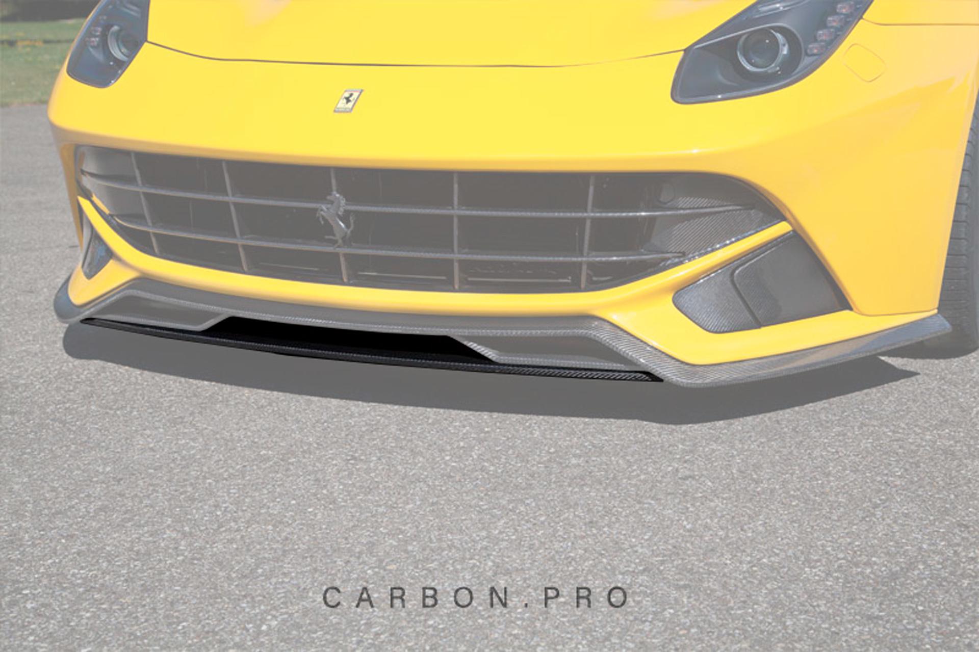 Карбоновая накладка центральная под спойлер переднего бампера Novitec Style для Ferrari F12 Вerlinetta